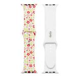 123Watches Apple Watch Print Sportband - Blumen rot