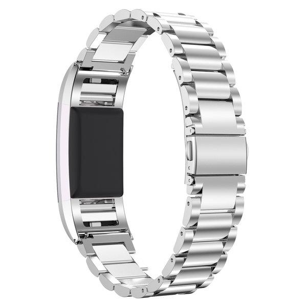 123Watches Fitbit charge 2 3 Perlen Gliederband - Silber