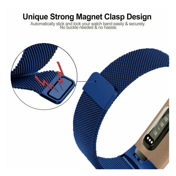 123Watches Fitbit charge 3 & 4 milanese band - blau