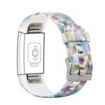 123Watches Fitbit charge 2 print sport band - blaue Blume