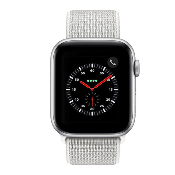 123Watches Apple watch nylon sport band - Gipfel weiß