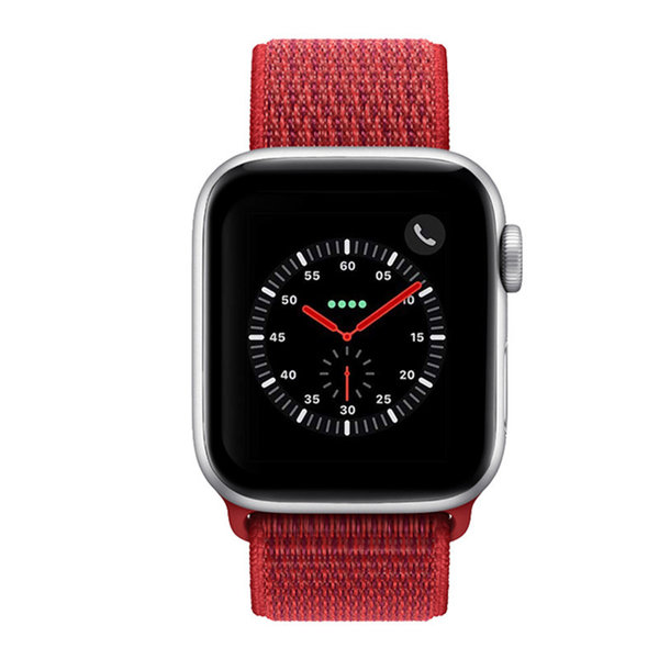 123Watches Apple watch nylon sport band - rot