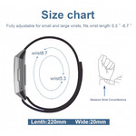 123Watches Fitbit Charge 3 & 4 Leder Glitzer Riemen - schwarz