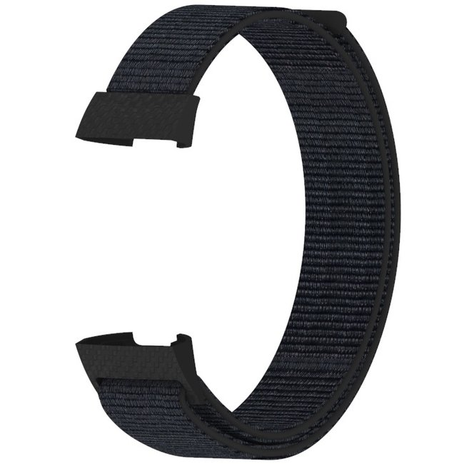 Fitbit charge 3 & 4 nylon sport band - Schwarzer Sand