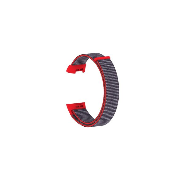 123Watches Fitbit charge 3 & 4 nylon sport band - Leuchtend rosa