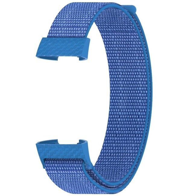 Marke 123watches Fitbit charge 3 & 4 nylon sport band - Umhang blau