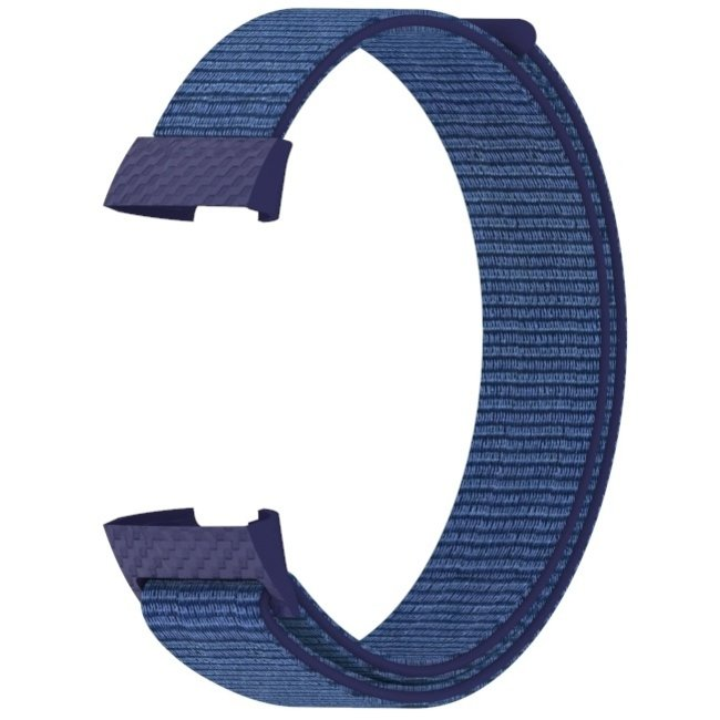 Marke 123watches Fitbit charge 3 & 4 nylon sport band - Mitternachtsnebel