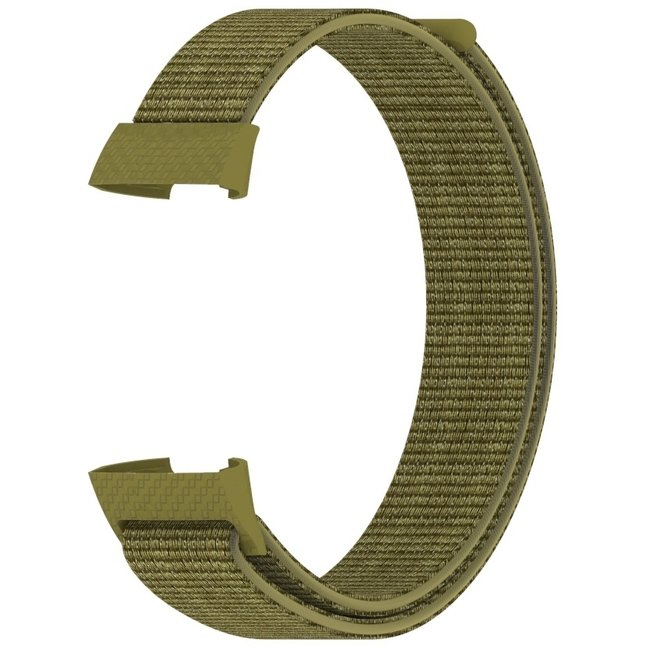 Marke 123watches Fitbit charge 3 & 4 nylon sport band - Olive