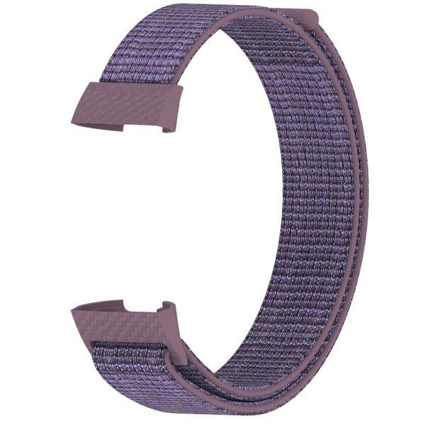 123Watches Fitbit charge 3 & 4 nylon sport band - smokey mauve