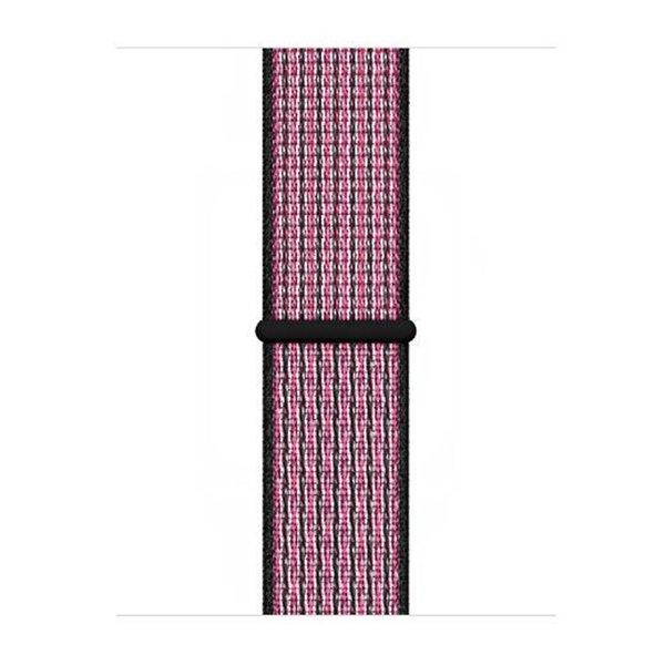 123Watches Apple watch nylon sport band - Pink Blast echte Beere