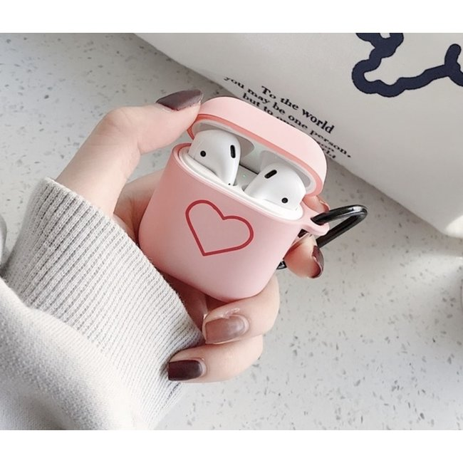 Apple AirPods 1 & 2 Hardcase - rosa Herz