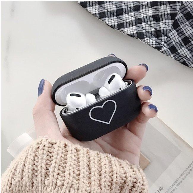 Marke 123watches Apple AirPods PRO Hardcase - schwarzes Herz