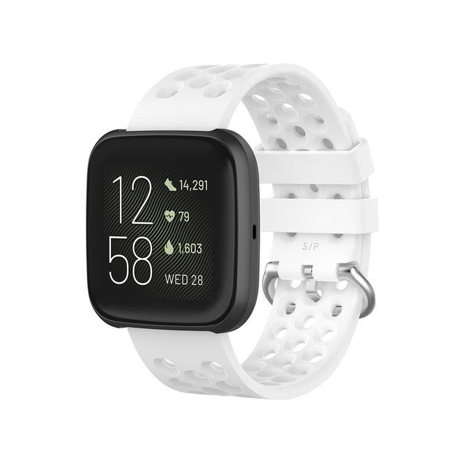 Marke 123watches Fitbit Versa sport point band - weiß