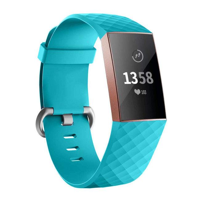 Fitbit Charge 3 & 4 Sportwaffelband - Grün blau