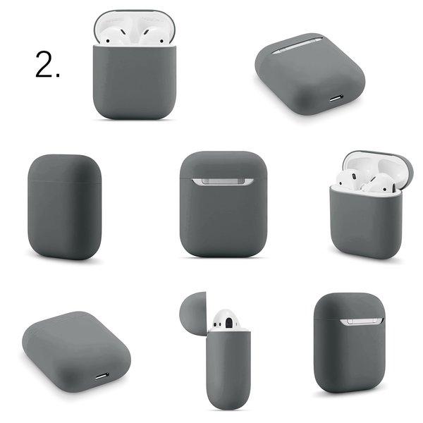 123Watches Apple AirPods 1 & 2 solide soft case - fortgeschrittene Asche