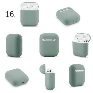 123watches Apple AirPods 1 & 2 solide soft case - graugrün