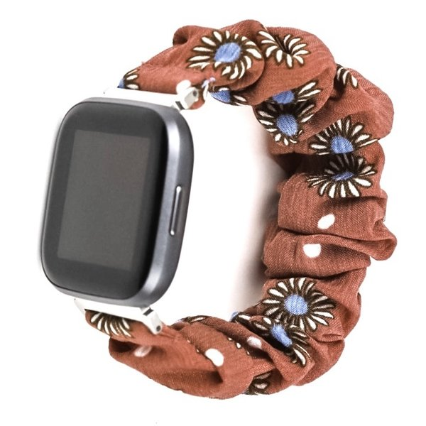 123Watches Fitbit Versa Scrunchie Band - Gänseblümchen