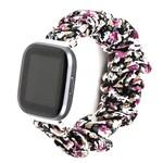 123Watches Fitbit Versa Scrunchie Band - Blumen lila