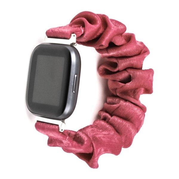 123Watches Fitbit Versa Scrunchie Band - rosa