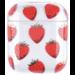 123watches Apple AirPods 1 & 2 transparente lustige Hartschale - Erdbeere