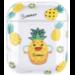 Marke 123watches Apple AirPods 1 & 2 transparente lustige Hartschale - Ananas