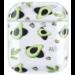 123watches Apple AirPods 1 & 2 transparente Spaß Hardcase - Avocado