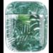123watches Apple AirPods 1 & 2 transparente lustige Hartschale - grünes Blatt