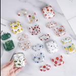 123Watches Apple AirPods 1 & 2 transparente lustige Hartschale - mischen Sie Blumen