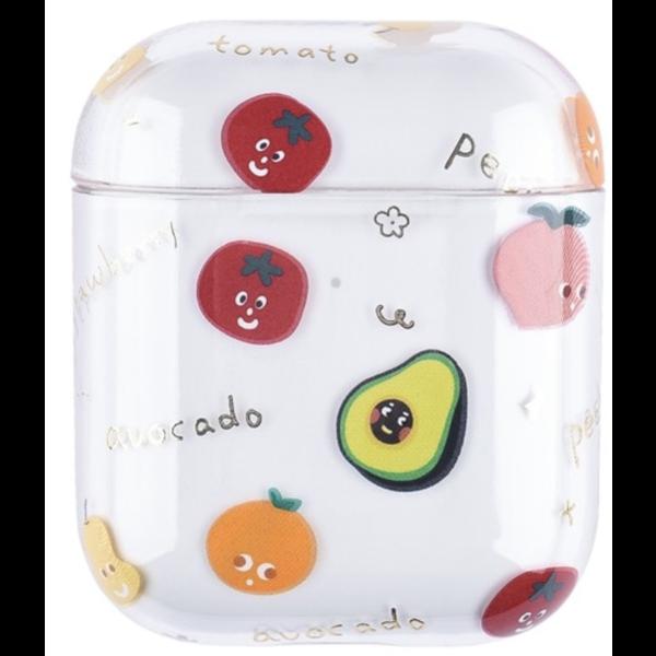 123Watches Apple AirPods 1 & 2 transparente lustige Hartschale - mischen Sie Obst