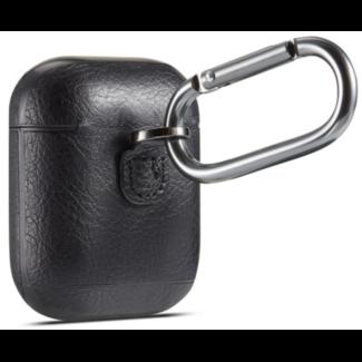 Marke 123watches Apple AirPods 1 & 2 Massivledertasche - schwarz