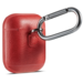 Marke 123watches Apple AirPods 1 & 2 Massivledertasche - rot