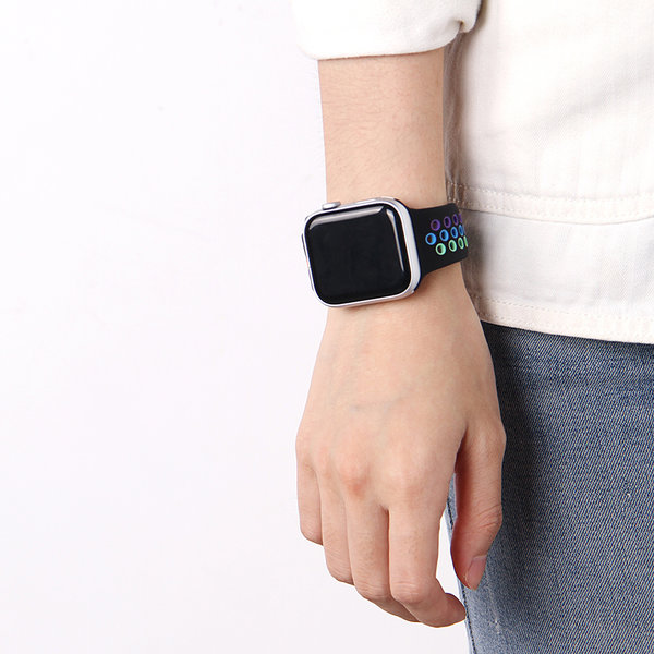 123Watches Apple watch doppelt sport band - buntes Schwarz