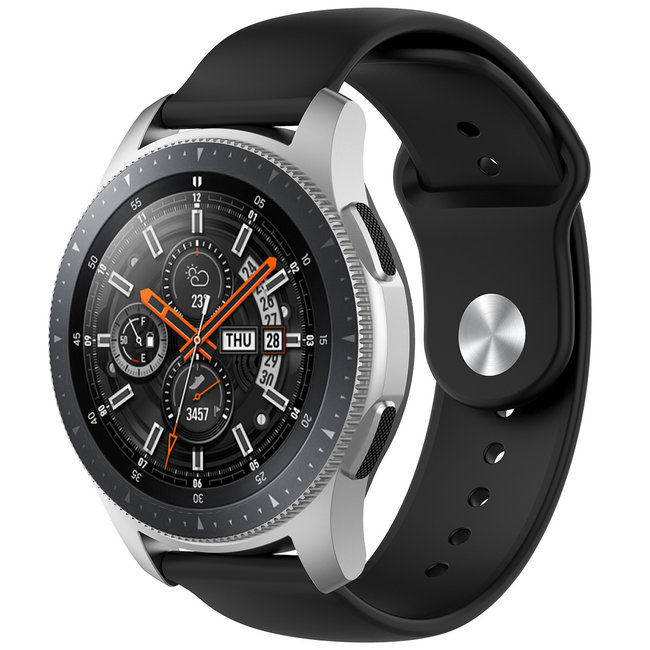 Marke 123watches Garmin Vivoactive / Vivomove Silikonband - schwarz