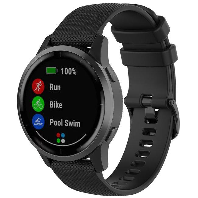 Marke 123watches Garmin Vivoactive / Vivomove Silikon schnallenband - schwarz