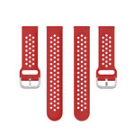 123Watches Garmin Vivoactive / Vivomove Silikon doppel schnallenband - rot