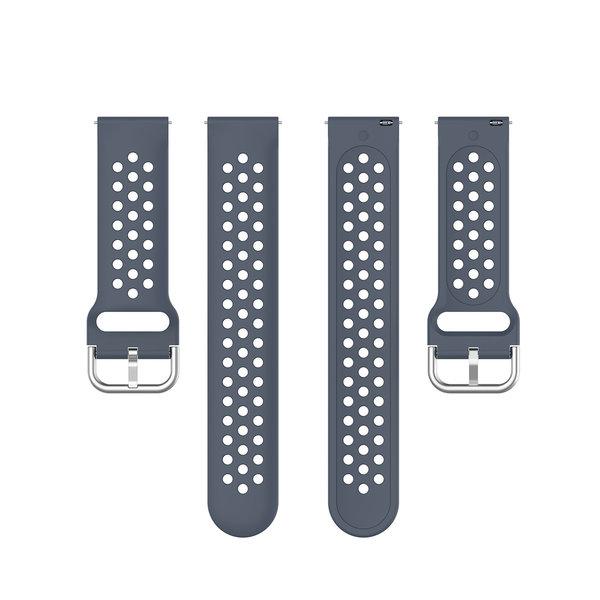 123Watches Garmin Vivoactive / Vivomove Silikon doppel schnallenband - grau