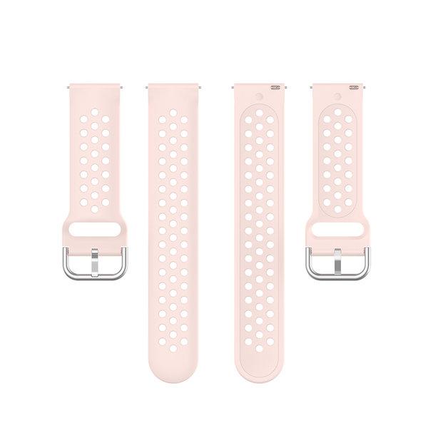 123Watches Garmin Vivoactive / Vivomove Silikon doppel schnallenband - Rosa