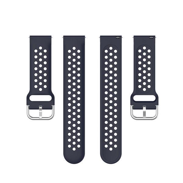 123Watches Garmin Vivoactive / Vivomove Silikon doppel schnallenband - Dunkelblau