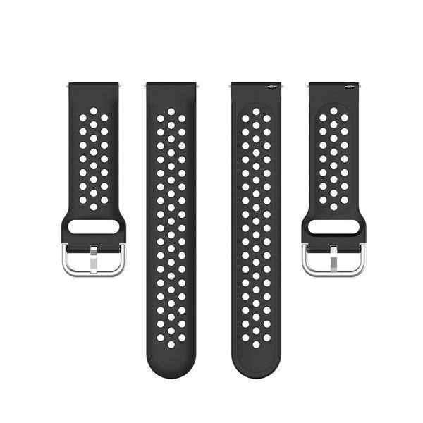 123Watches Garmin Vivoactive / Vivomove Silikon doppel schnallenband - schwarz
