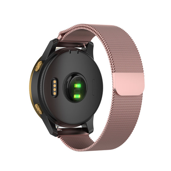 123Watches Garmin Vivoactive / Vivomove milanese band - rose rot