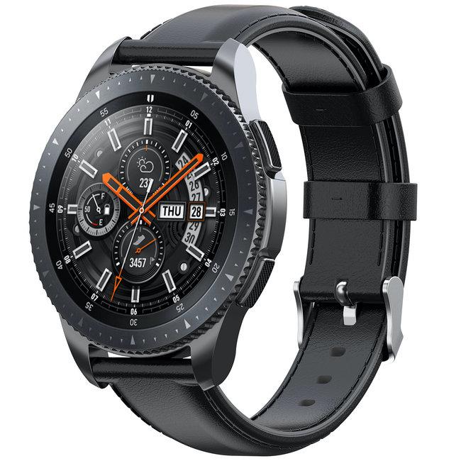 123watches Garmin Vivoactive / Vivomove Lederband - schwarz