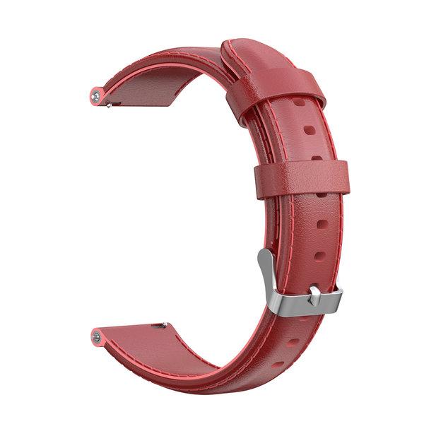 123Watches Garmin Vivoactive / Vivomove Lederband - rot
