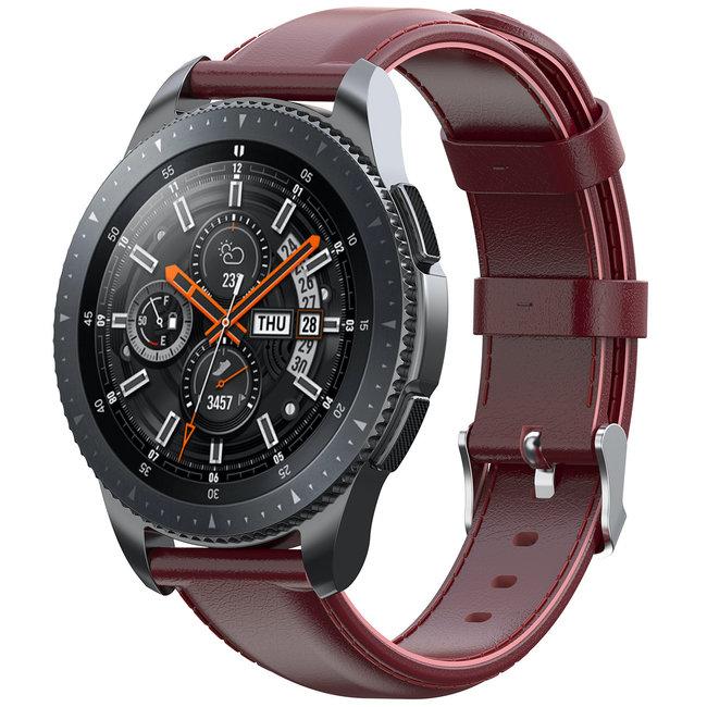 Marke 123watches Garmin Vivoactive / Vivomove Lederband - Weinrot