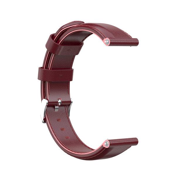123Watches Garmin Vivoactive / Vivomove Lederband - Weinrot