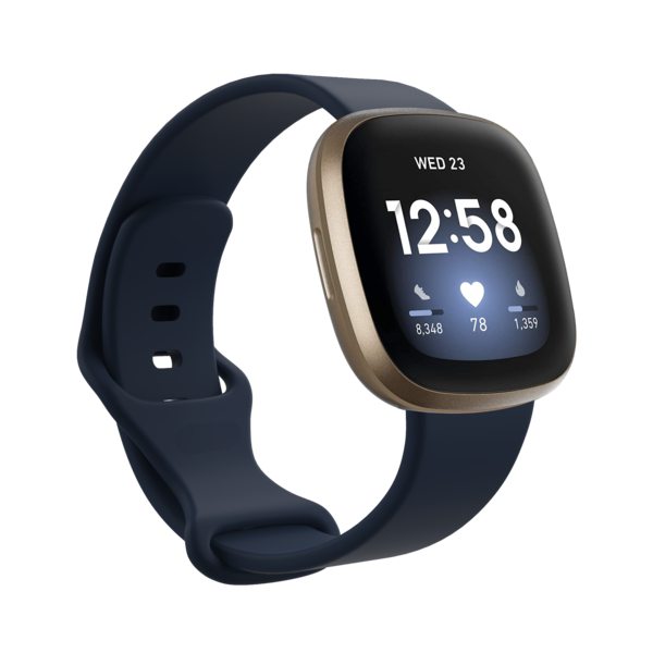 123Watches Fitbit Versa 3 / Sense Sportband - Navy blau