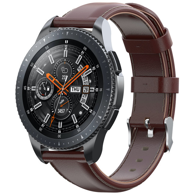123watches Samsung Galaxy Watch Lederband - Hellbraun