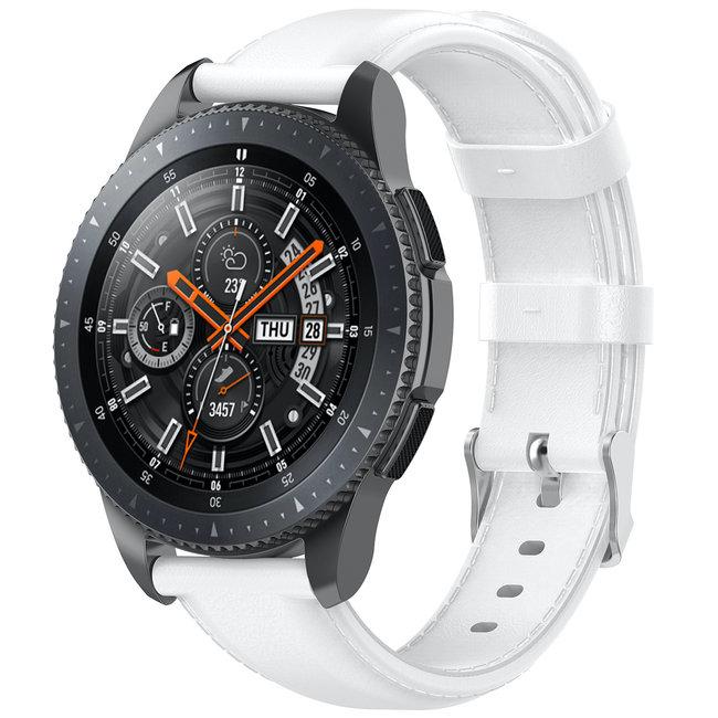 Samsung Galaxy Watch Lederband - weiß