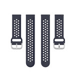 123Watches Samsung Galaxy Watch Silikon doppel schnallenband - Dunkelblau
