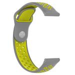 123Watches Samsung Galaxy Watch Silikon Doppelband - grau Gelb