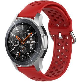 Marke 123watches Samsung Galaxy Watch Silikon doppel schnallenband - rot